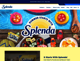 splenda.com screenshot