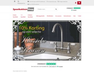 spoelbakkenshop.nl screenshot