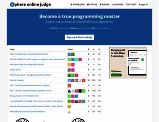 spoj.com screenshot