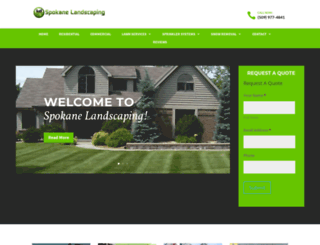 spokanelandscaping.com screenshot