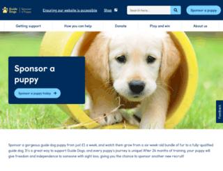 sponsorapuppy.org.uk screenshot