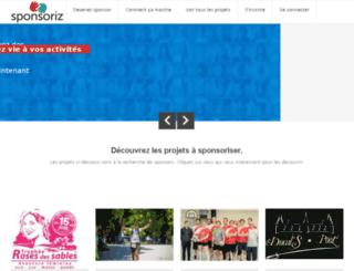 sponsoriz.com screenshot