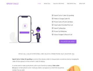 spoofcallz.com screenshot
