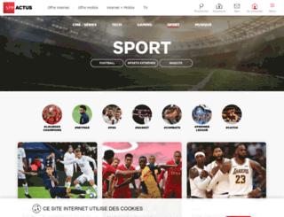 sport.sfr.fr screenshot