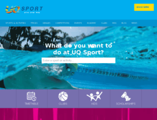 sport.uq.edu.au screenshot
