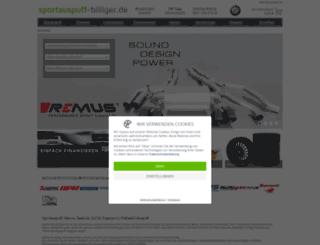 sportauspuff-billiger.de screenshot