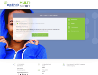 sportclub.medihelp.co.za screenshot