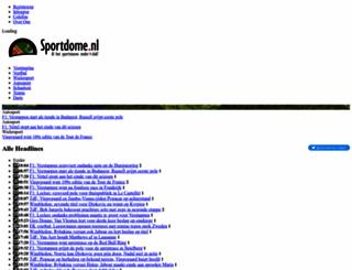 sportdome.nl screenshot