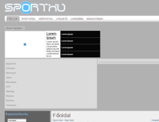 sporthu.hu screenshot