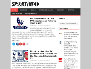 sportinfo.in screenshot