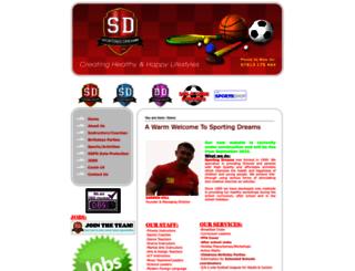 sporting-dreams.co.uk screenshot