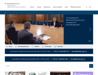 sportministerium.at screenshot