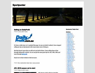 sportpunter.com screenshot