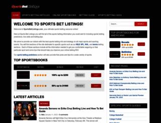 sportsbetlistings.com screenshot