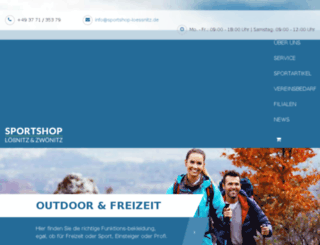 sportshop-zwoenitz.de screenshot