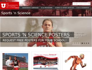 sportsnscience.utah.edu screenshot