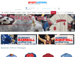 sportuniform.com screenshot