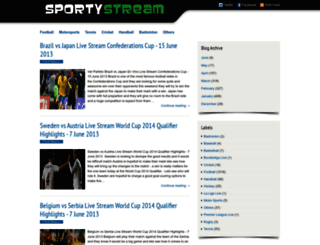 sportystream.blogspot.hu screenshot