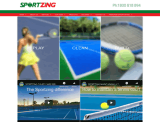 sportzing.com.au screenshot