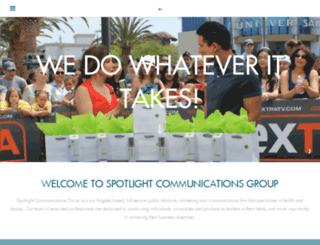 spotlightcommgroup.com screenshot