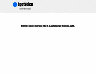 spotvoice.com screenshot