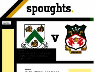 spoughts.co.uk screenshot