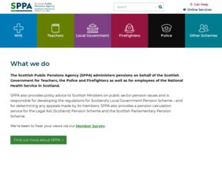 sppa.gov.uk screenshot