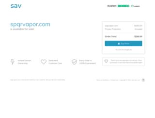 spqrvapor.com screenshot