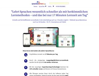 sprachelernen24.de screenshot