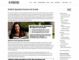 sprachen-lernen-web.com screenshot