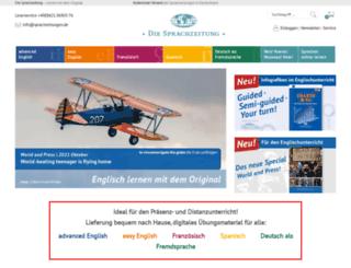 sprachzeitungen.de screenshot