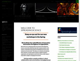 spreadingscience.com screenshot