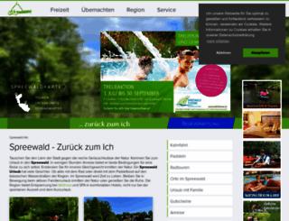 spreewald-info.de screenshot