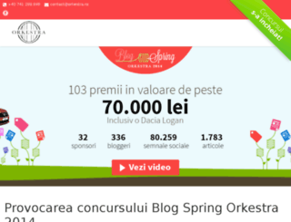 spring.orkestra.ro screenshot