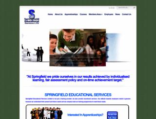 springfield-education.co.uk screenshot