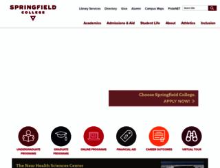springfield.edu screenshot