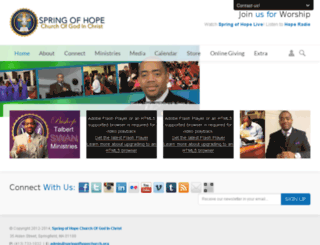springofhopechurch.org screenshot