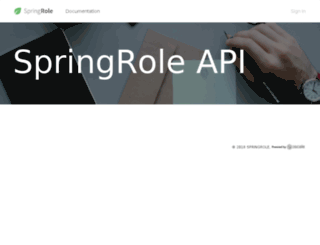 springrole.3scale.net screenshot