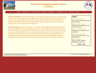 springvaletownship.com screenshot