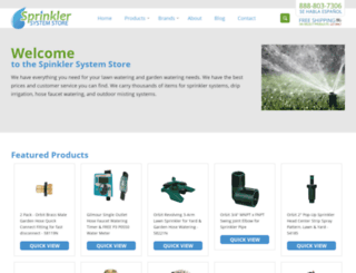sprinklersystemstore.com screenshot