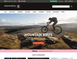 sprocketscycles.com screenshot