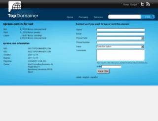 sprone.com screenshot