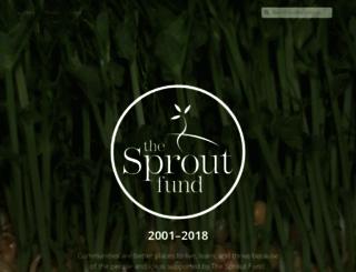 sproutfund.org screenshot