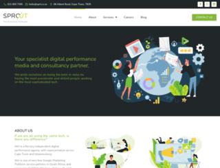 sproutperformance.com screenshot