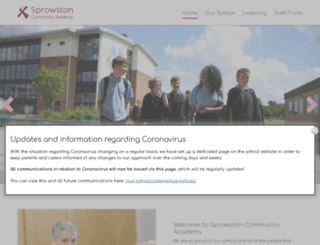 sprowstonhigh.org screenshot