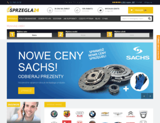 sprzegla24.pl screenshot
