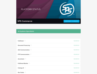spscommerce.statuspage.io screenshot