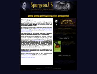 spurgeon.us screenshot