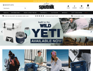 sputniksnowboardshop.com screenshot