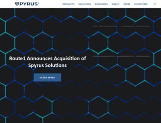 spyrus.com screenshot
